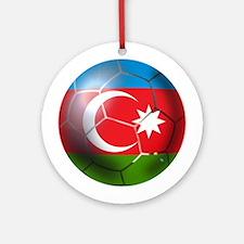 Azerbaijan Soccer Ornament (Round)