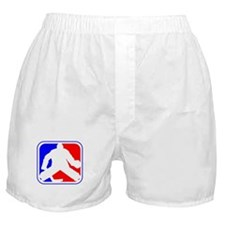 Hockey Goalie League Logo Boxer Shorts