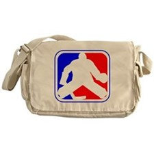 Hockey Goalie League Logo Messenger Bag