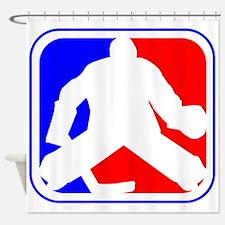 Hockey Goalie League Logo Shower Curtain