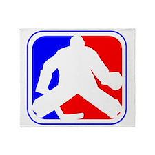 Hockey Goalie League Logo Throw Blanket