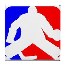 Hockey Goalie League Logo Tile Coaster