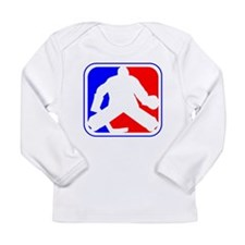 Hockey Goalie League Logo Long Sleeve T-Shirt