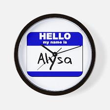 hello my name is alysa  Wall Clock