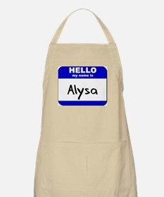 hello my name is alysa  BBQ Apron