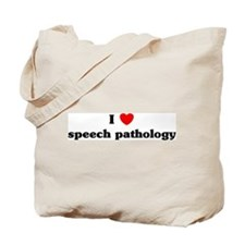 I Love speech pathology Tote Bag