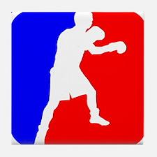 Boxing League Logo Tile Coaster