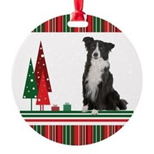 Christmas Border Collie Ornament