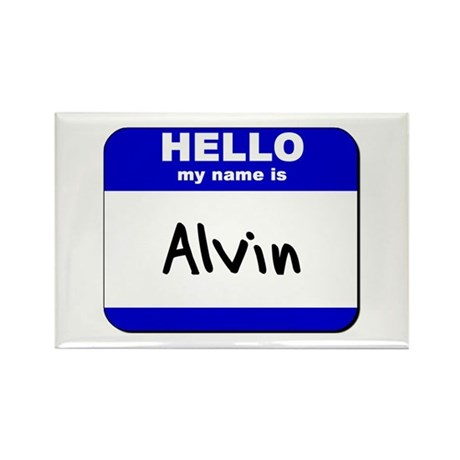 hello my name is alvin Rectangle Magnet