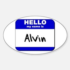 hello my name is alvin Oval Decal