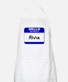 hello my name is alvin  BBQ Apron