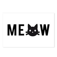 Meow, with black cat face Postcards (Package of 8)