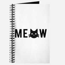 Meow, with black cat face Journal