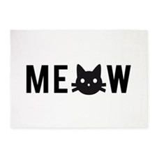 Meow, with black cat face 5'x7'Area Rug