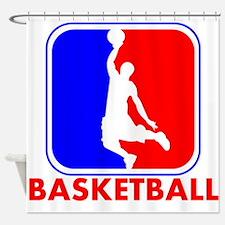 Basketball League Logo Shower Curtain