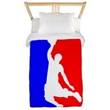 Basketball League Logo Twin Duvet