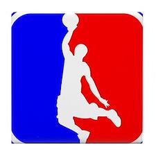 Basketball League Logo Tile Coaster