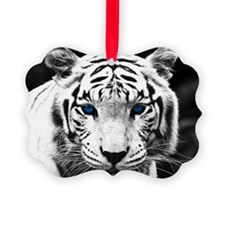 White Tiger Blue Eye Ornament