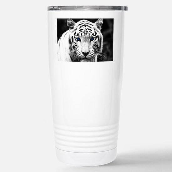 White Tiger Blue Eye Stainless Steel Travel Mug