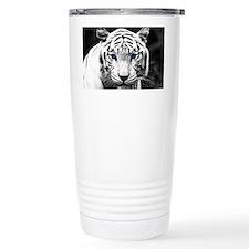 White Tiger Blue Eye Travel Coffee Mug