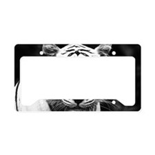 White Tiger Blue Eye License Plate Holder