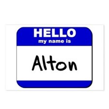 hello my name is alton  Postcards (Package of 8)