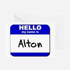 hello my name is alton  Greeting Cards (Package of