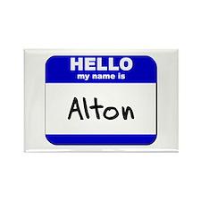hello my name is alton Rectangle Magnet