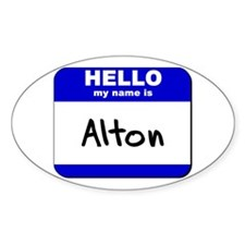 hello my name is alton Oval Decal