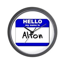 hello my name is alton  Wall Clock