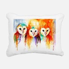 Row Of Owls ~ Rectangula Rectangular Canvas Pillow