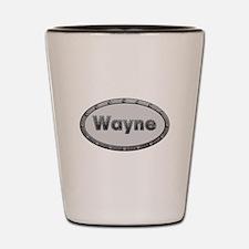 Wayne Metal Oval Shot Glass