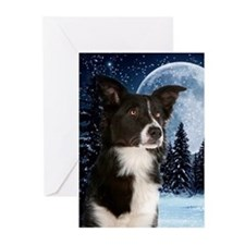 Border Collie Christmas Greeting Cards (Pk Of 10)