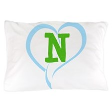 Letter N Pillow Case