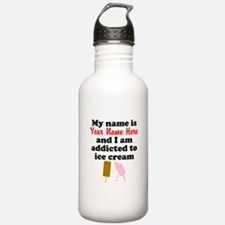 Addicted To Ice Cream (Custom) Sports Water Bottle