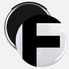 Letter F Black Magnets