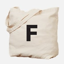 Letter F Dark Gray Tote Bag