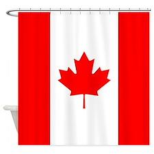 Canadian Flag Shower Curtain