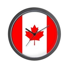 Canadian Flag Wall Clock