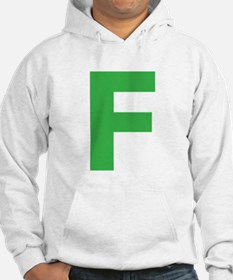 Letter F Green Hoodie