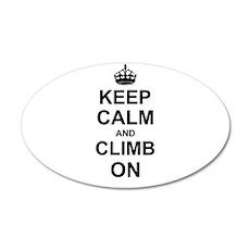 Keep Calm and Climb on Wall Sticker