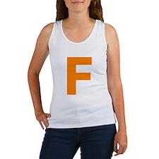 Letter F Orange Tank Top