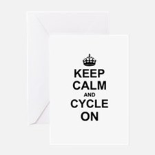 Keep Calm and Cycle on Greeting Cards