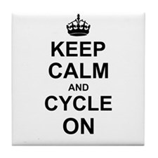 Keep Calm and Cycle on Tile Coaster
