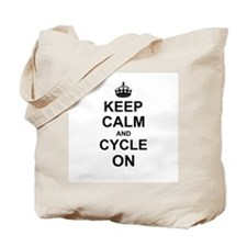 Keep Calm and Cycle on Tote Bag