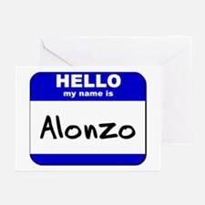 hello my name is alonzo  Greeting Cards (Package o