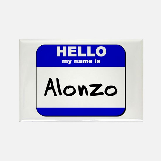 hello my name is alonzo Rectangle Magnet