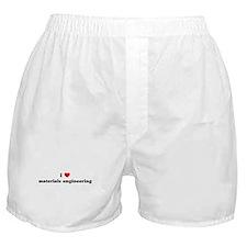 I Love materials engineering Boxer Shorts