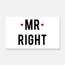Mr right text design with red hearts Rectangle Car