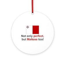 Perfect Maltese Keepsake Ornament
